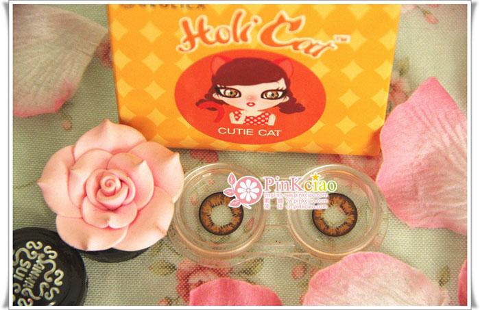 周小兎分享 - geo holicat 荷丽猫迷萌棕(Cuite Cat) 超迷蒙深棕瞳