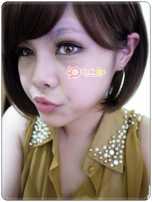 俏丽美少女桂纶镁修饰脸型人气NO.1 neo天使三色棕