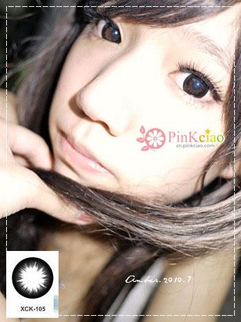 韩国GEO美瞳 XCK-105小S巨目黑瞳